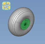 Wheels set for Ka-27 Soviet / Russian helicopter No mask series