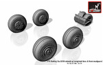 1/72 Sukhoj Su-32/34 wheels w/ weighted tires, front mudguard