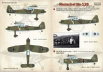 Henschel Hs-126 The complete set 1,5 leaf